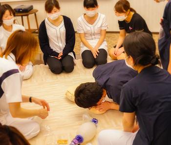 AED勉強会 人工呼吸