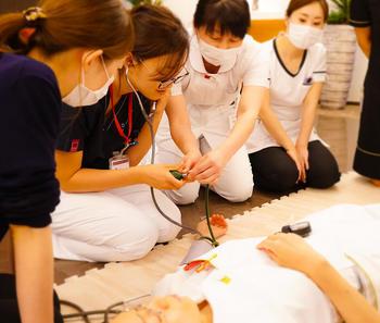 AED勉強会 血圧測定